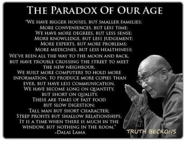Dali Lama - The Paradox of Our Age